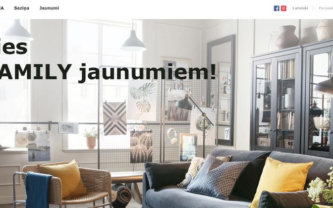 Läti Ikea veebileht
