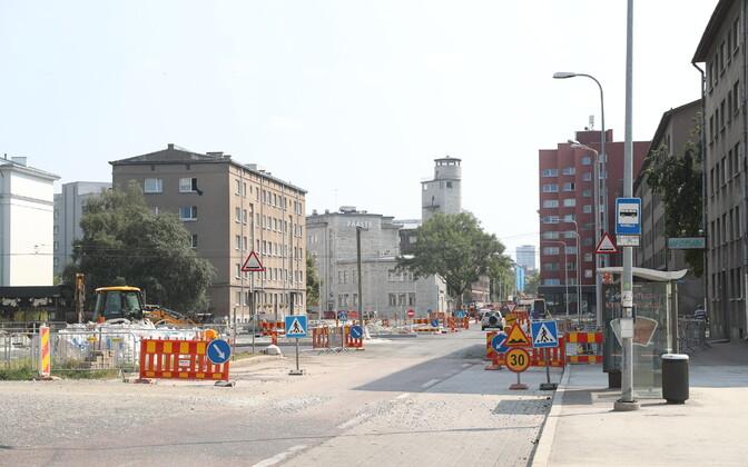Открытый 1 августа отрезок на улице Гонсиори.