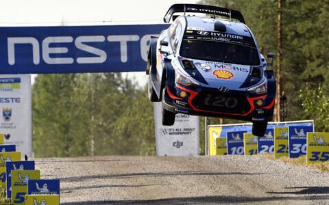 Thierry Neuville (Hyundai) Soome rallil.