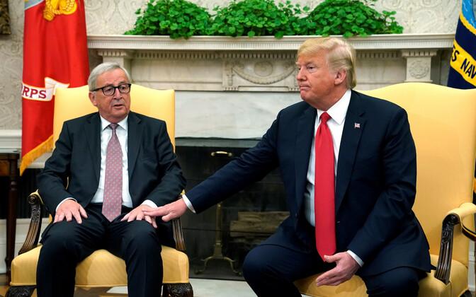 Juncker ja Trump 25. juulil Washingtonis.