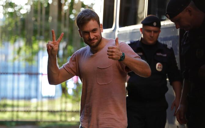 Pussy Rioti liige Pjotr Verzilov 31. juulil, kui ta taas kinni peeti.