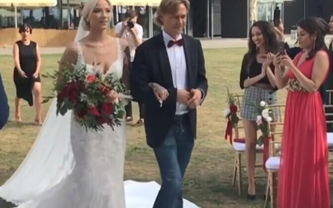 Валерий Карпин и его дочь Мария.