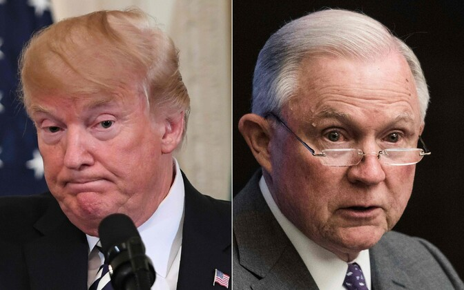 USA president Donald Trump ja justiitsminister Jeff Sessions.