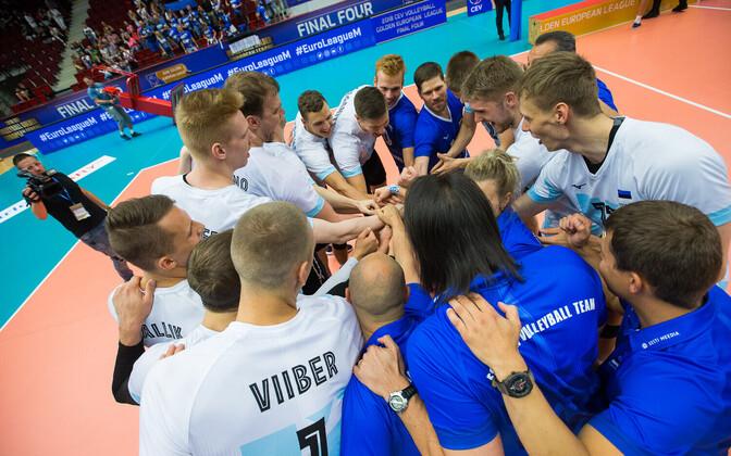 Сборная Эстонии по волейболу готовится к отборочному турниру ЧЕ.