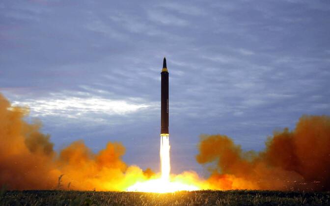 Põhja-Korea raketikatsetus.