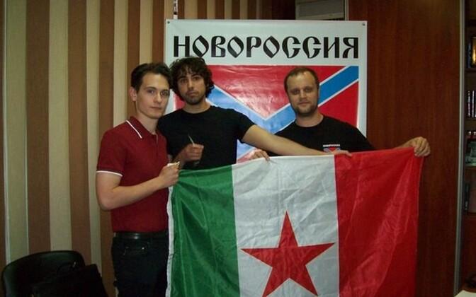 Итальянские активисты в Донецке.