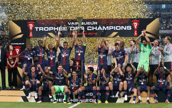 PSG võitis kaheksandat korda Prantsusmaa superkarika.
