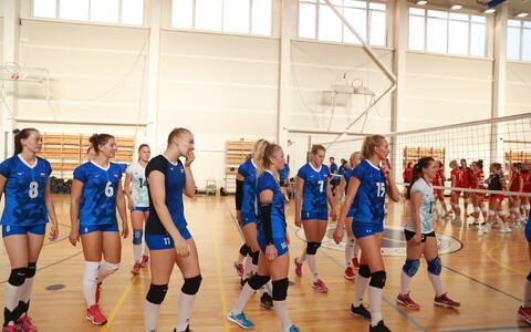 Eesti naiste võrkpallikoondis kohtus kontrollmängus Taaniga