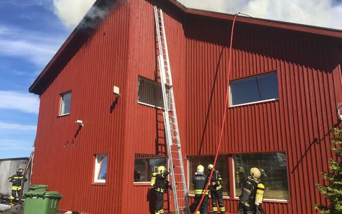 Пожар в ресторане NEEM