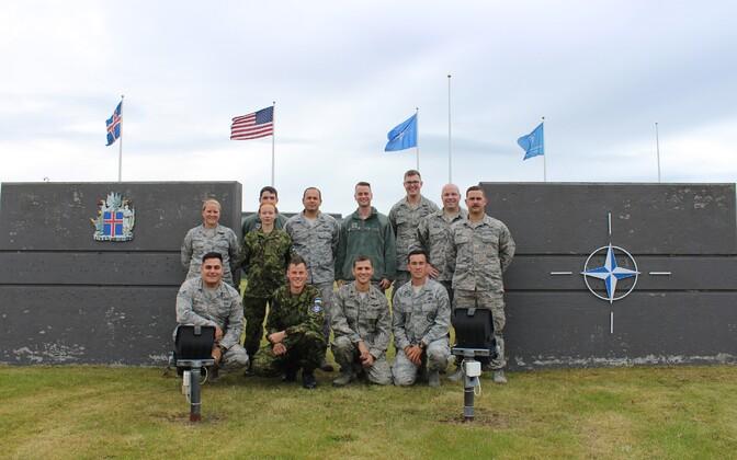 Eesti õhuväelased osalevad Islandi õhuturbemissioonil.