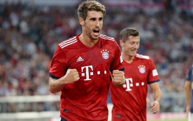 Bayerni väravaautor Javi Martinez.