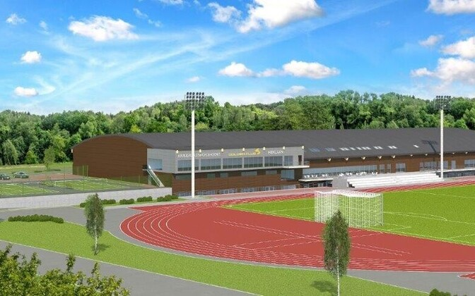 Проект спортивного центра Karulaugu.
