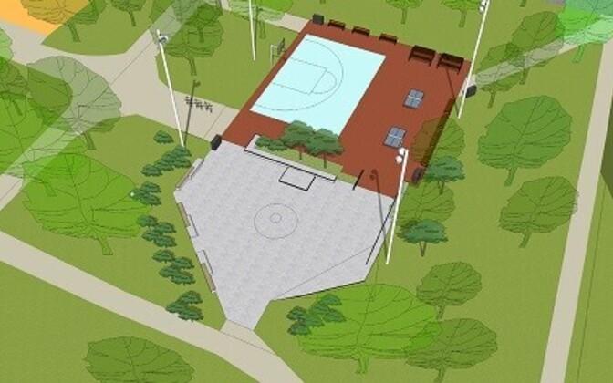 Проект спортивной площадки в парке Койду.