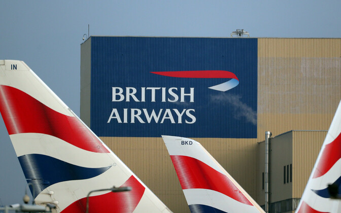 Lennufirma British Airways logo Heathrow' lennujaamas.