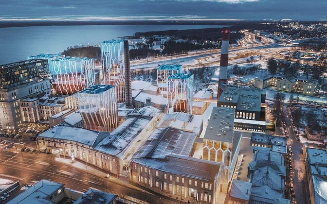 Artist's impression of Fausto Capital's proposed Fahle Park/Sossi Quarter development in central Tallinn.