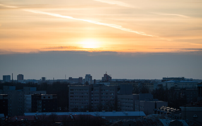 Estonia is in favour of abolishing daylight saving time: wintery Tallinn.