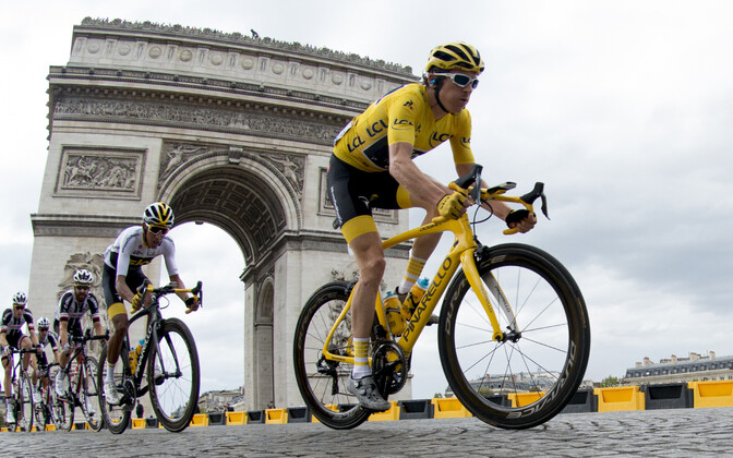 Geraint Thomas (esiplaanil) Tour de France'il