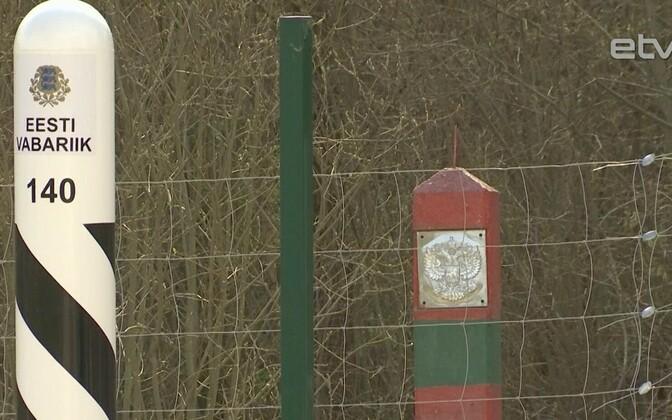 Восточная граница Эстонии.
