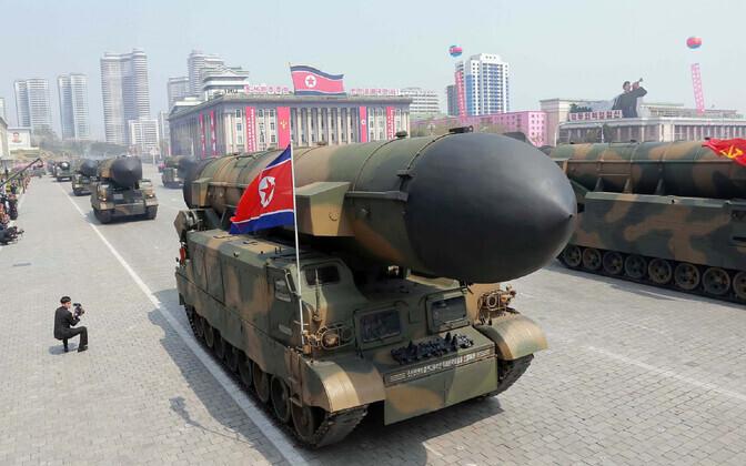 Paraad Pyongyangis 2017. aasta aprillis.