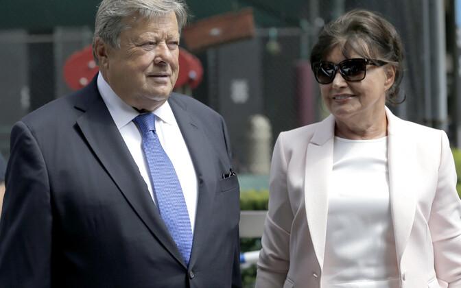 Melania Trumpi vanemad Viktor ja Amalija Knavs.