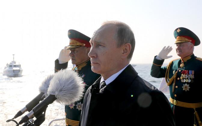 Venemaa president Vladimir Putin mereväeparaadil 2018. aasta juulis.