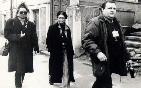 Margus (paremal) koos ansambliga Boney M