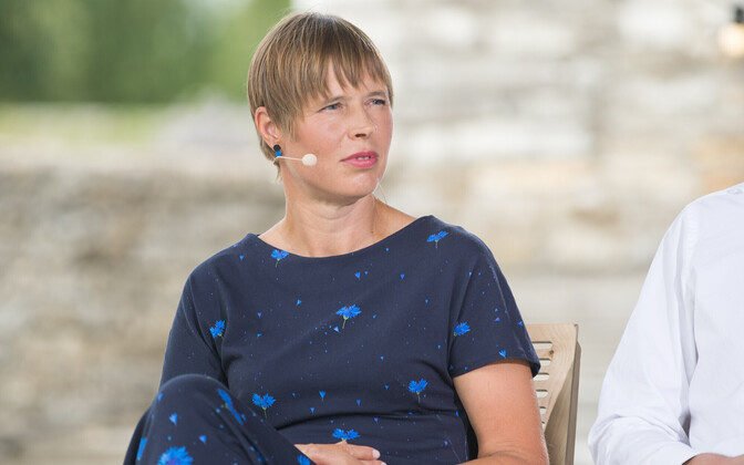 President Kaljulaid at the 2018 Arvamusfestival.
