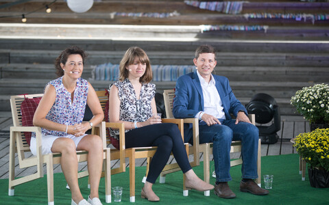 At ERR News' panel discussion at the 2018 Arvamusfestival in Paide.
