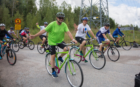 Prime Minister Jüri Ratas and Finnish Prime Minister Juha Sipilä participated in Estonian centennial bike ride in Helsinki on Sunday. 12 August 2018.