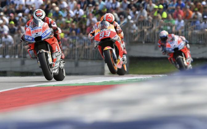 Jorge Lorenzo, Marc Marquez ja Andrea Dovizioso