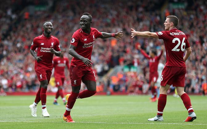 Sadio Mane lõi Liverpooli liigahooaja avamängus kaks väravat