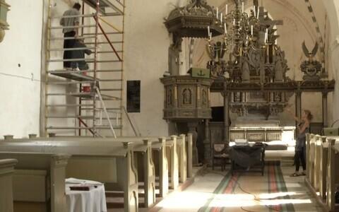 Tööd Ridala kirikus.