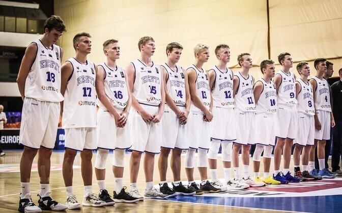 Eesti noormeeste U-16 korvpallikoondis möödunud suvel