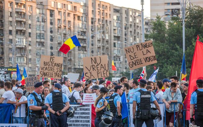 Meeleavaldus Rumeenia pealinnas Bukarestis.