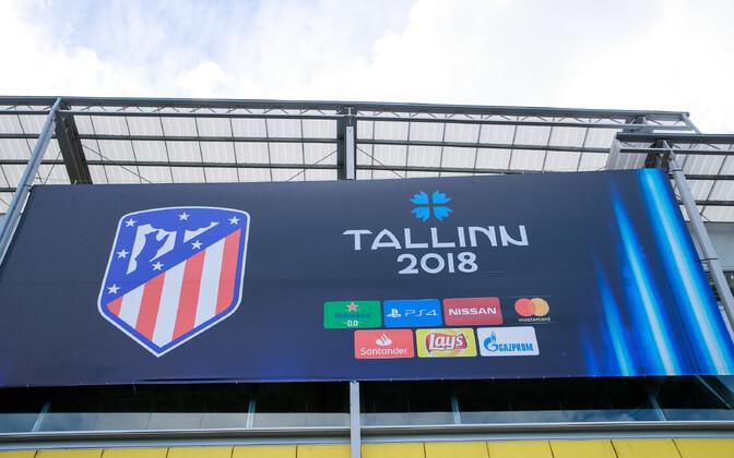Подготовка стадиона в Лиллекюла к финальному матчу Суперкубка УЕФА.