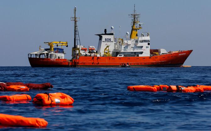 SOS Méditerranée ja Médecins Sans Frontières (MSF) päästelaev Aquarius 2018. aasta juunis.