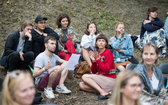 Festival goers at 2018's event in Paide.