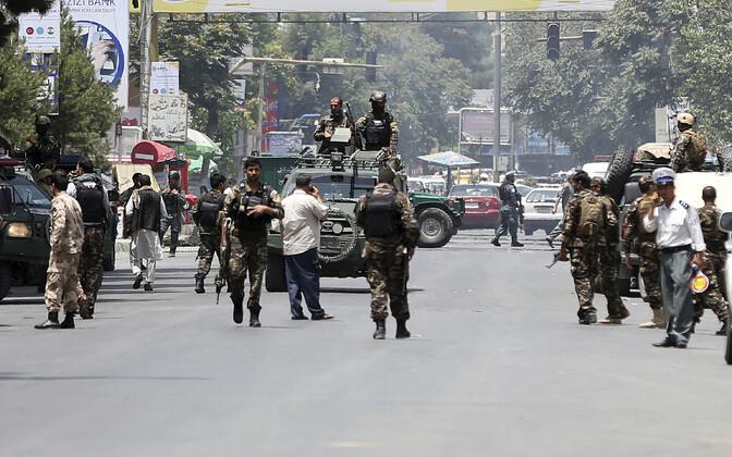 Julgeolekujõud Kabulis, arhiivifoto.