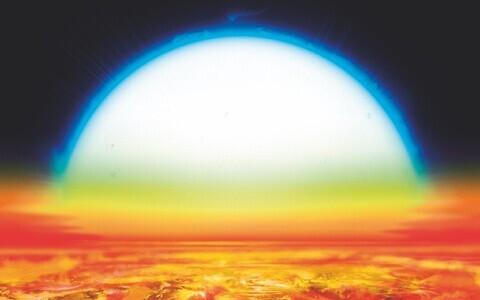 Eksoplaneet KELT-9b kunstniku nägemuses.