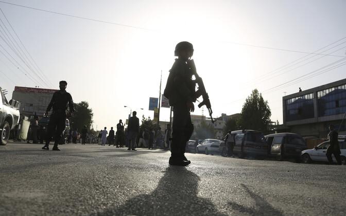 Afganistani julgeolekujõud Kabulis.