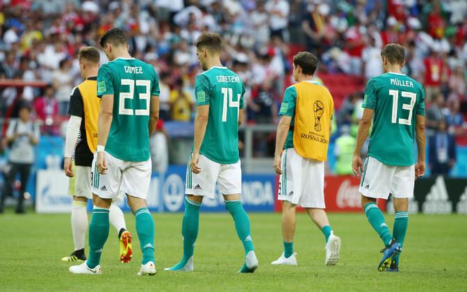 2014. aastal maailmameistriks tulnud Saksamaa kukkus edetabeli esikümnest välja