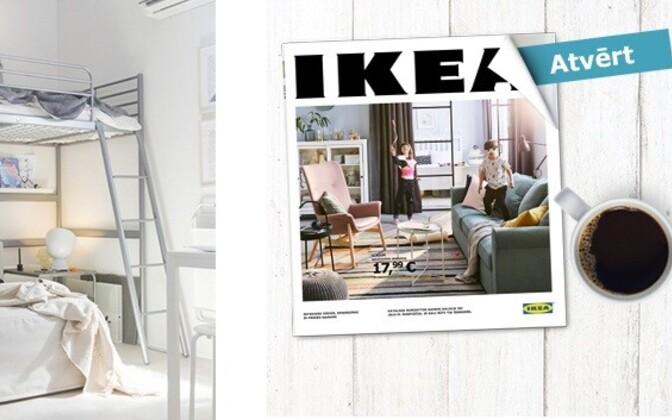 IKEA lätikeelne kodulehekülg.