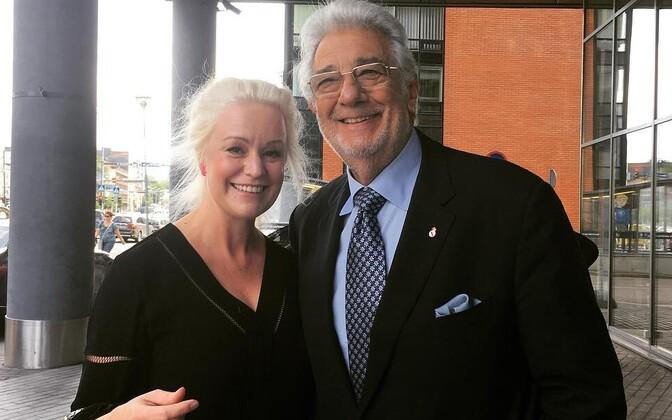 Karmel Eikner ja Placido Domingo
