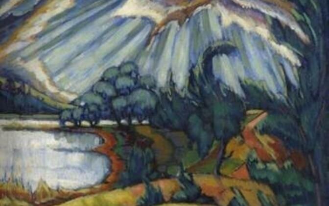 Pühajärv. 1918–1920. Õli, lõuend. 52,7 × 68 cm.