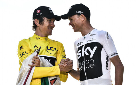 Geraint Thomas ja Chris Froome