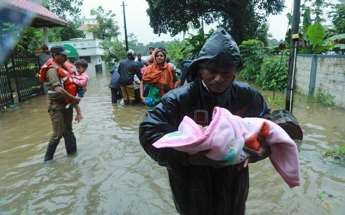 Наводнение на юге Индии.