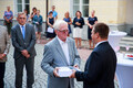 Estonia's former prime ministers and secretaries of state were invited to the Stenbock House for a reception on Friday. 17 August 2018.