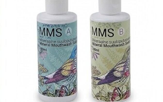 MMS-i müüakse suuloputusvahendina, mis ametliku sildi järgi on välispidiseks tarvitamiseks, ent mida suletud grupis juhendatakse sisse jooma.