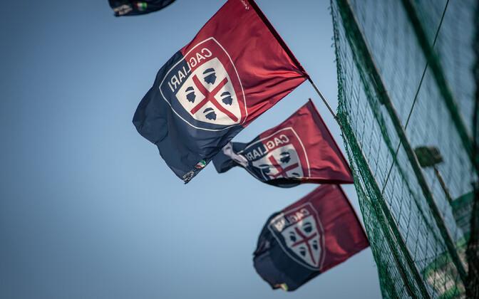 Cagliari Calcio logoga lipud