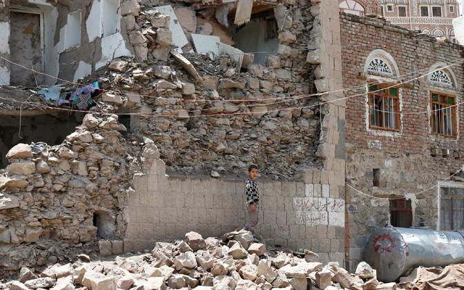 Sanaa pärast pommiplahvatust.